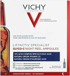 Vichy Liftactiv Sepcialist Glyco-C Night Peel Brightens Exfoliates 30 Amp x 2ml