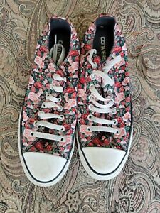 Converse All Star Womens Size 11 roses Floral Low Top Sneakers Vented