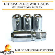 12x1.25mm Locking Alloy Wheel Lock Nuts Tuner Sparco Slimline Security Bolts