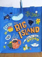 HAWAIIAN BIG ISLAND OF HAWAII BLUE REUSABLE SHOPPING BAG  BEACH BAG / BEACH TOTE