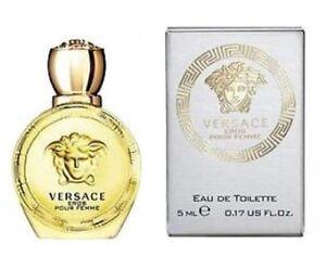 Versace EROS Femme edt Eau de Toilette 5ml Mini Travel Splash Fragrance - BNIB