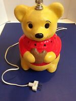Vintage Winnie The Pooh Cookie Ceramic Lamp With Night Light Tested Fast ship
