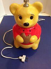 Vintage Winnie The Pooh Ceramic Lamp With Night Light