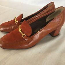 Vintage Naturalizer Dresden Rusty Red Baroque Pumps Shoes Nouveau Retro Sz 6 AA