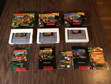 Donkey Kong Country 1 + 2 + 3 (Super Nintendo, SNES LOT) Complete - Authentic
