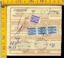 Regno Colonie Occupazioni Lubiana V 729 bollettino pacchi tassato