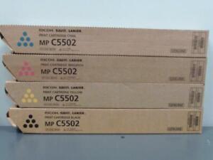 New Genuine RICOH SAVIN LANIER MP C5502 Print Cartridge Set