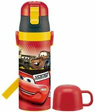 Skater Mag Bottle for Child 2 WAY Stainless Steel Water Bottle CAR with Cup 19