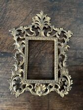 More details for antique gilt metal florentine picture photo painting frame victorian