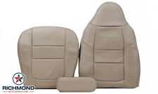 2001 Ford F350 Lariat -Driver Side COMPLETE PERFORATED Leather Seat Covers TAN