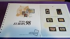 hojas sellos europa cept, Efilcar especial 1998.