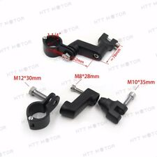 """1.25"""" Engine Guards Foot Peg Mounts Clamp For Harley Replacement Kuryakyn Black"""