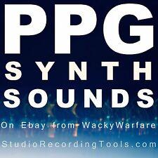 PPG SYNTH SOUNDS Reason NNXT Sample Kontakt Soundfont sf2 Wav Exs 24 Akai AKP CD