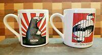 2 Simon Drew For McLaggan Smith Mole-Femole & Eider Way Up Coffee Mugs Scotland