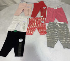 7 Pc Lot New With Tag girl Leggings/sweat Pants 3-6 months
