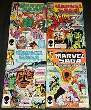 Vintage Marvel Copper Age MARVEL SAGA 4pc Comic Lot FN-VF Spider-Man Wolverine