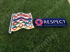 2018-2019 Nations League Soccer Football Sleeve Patch Set + Respect