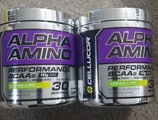 2 Bottles! Cellucor Alpha Amino EAA & BCAA Recovery Powder (Lemon Lime)    t5