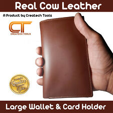 Real Cow Leather Large Size Luxury Men's Wallet & Credit card Holder RFID Bifold
