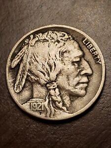 1921 S Buffalo Nickel VF