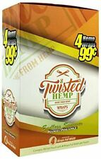 Twisted Hemp Wraps Box 15 ponches - 4 full wraps Endless Summer Mango/Pineapple