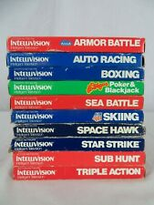 Mattel Intellivision Video Game Lot of 10 Games