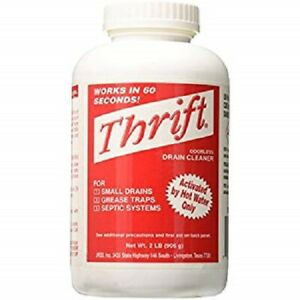 Thrift Alkaline Based Drain Cleaner 2 lb Granular Thrift T-200