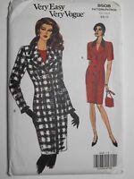 Vogue 8508 Sewing Pattern Button Front Suit Style Dress Sizes 6-8-10 Vintage UC