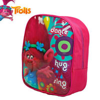 Trolls Girls Backpack Rucksack Small Kids Nursery Pre School Pink Travel Bag