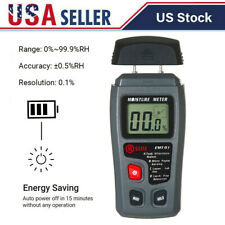 Damp Detector Moisture Meter Digital Lcd Tester Wood Wall Plaster With Pin D8m4