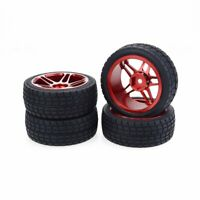 4PCS RC Wheel Tires 1/10 Drift Car Wheels Tires with Aluminum Alloy Rim bU