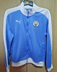 MCFC Manchester City Puma 125 Years Men's Marina Blue Track Jacket M Medium