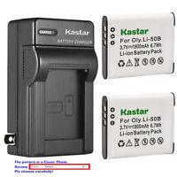 Kastar Battery Wall Charger for Olympus Li-50B LI-50C & SP-720UZ SP-800 SP-800UZ