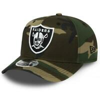 Las Vegas Raiders New Era NFL Team Stretch-Snap 9FIFTY Curved Snapback Hat - Cam