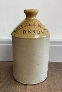 Vintage Stoneware Flagon - Walker & Co Derby