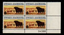 ALLYS STAMPS US Plate Block Scott #1504 8c Rural America - Cattle [4] MNH [STK]