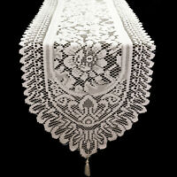 14 x 108 inch Lace Table Runner Ivory
