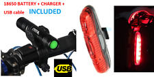 FRONT & REAR LED bike lights set for mountain road BMX bicycles cycling