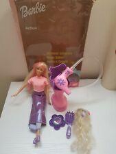 BARBIE 1999 MODE SALON Barbie Doll Hair Blower Reverse Outfit Meches Brush Mirro