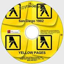 CA - San Diego California 1982 Yellow Pages CD - Searchable