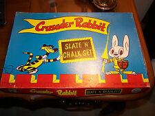 Crusader Rabbit Slate 'N' Chalk Set Rosebud Art Co SCARCE! missing slate & cup