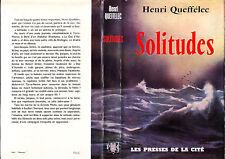 C1 MER Queffelec SOLITUDES Jaquette PECHE TERRE NEUVE