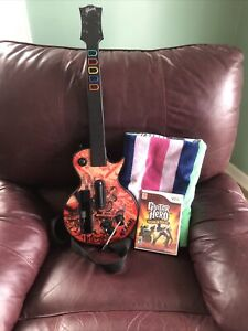 Wii Guitar Hero SLASH Les Paul Gibson Red Octane W/ Strap  - GH World Tour Game