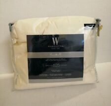 Wamsutta 625 Thread Count QUEEN Sheet Set Pima Cotton   SOLID IVORY