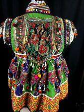 Kuchi DRESS TOP Ethnic Afghan Banjara Tribal Mirrored Handmade Unique Tunic Kids