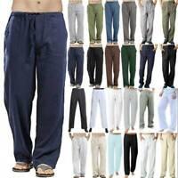 Herren Weites Bein Hosen Freizeithose Muslim Abaya Yoga Lose Stoffhose Sommer
