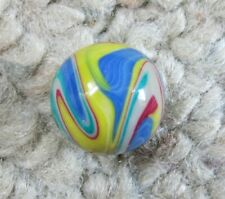 """Carl Fisher Marbles 11/16"""" Colorful Swirl Contemporary Polymer Clay Marble"""