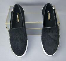 78bad177d20 Louise ET CIE Bershner Black Leather Rabbit Fur Slip On Sneakers Womens SZ  9.5 M