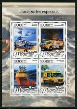 MOZAMBIQUE 2016 SPECIAL EMERGENCY TRANSPORT  SHEET MINT NH