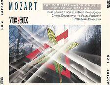 MOZART : THE COMPLETE MASONIC MUSIC - DIE FREIMAURERMUSIK / 2 CD-SET